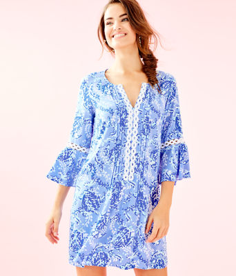 Hollie Tunic Dress, Blue Peri Turtley Awesome, large