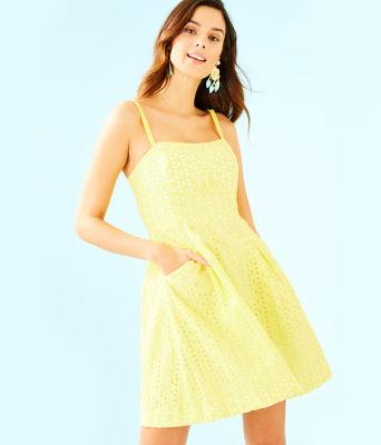 Blossom Dress, Pineapple Juice Oval Flower Petal Eyelet, large 0