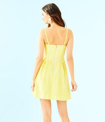 Blossom Dress, Pineapple Juice Oval Flower Petal Eyelet, large 1