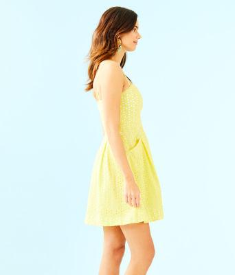 Blossom Dress, Pineapple Juice Oval Flower Petal Eyelet, large 2