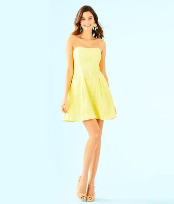 Blossom Dress, Pineapple Juice Oval Flower Petal Eyelet, large