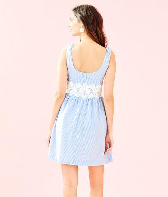 Tessa Dress, Coastal Blue Seersucker, large 1