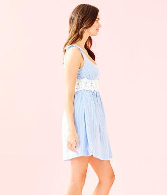 Tessa Dress, Coastal Blue Seersucker, large 2