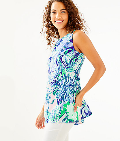 Donna Tunic Top, Multi Party Thyme, large 0