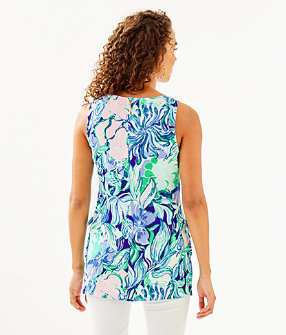 Donna Tunic Top, Multi Party Thyme, large 1