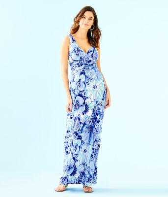 Sloane Dress, Coastal Blue Catch N Keep, large