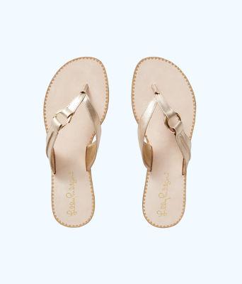 Marina Sandal, Gold Metallic, large