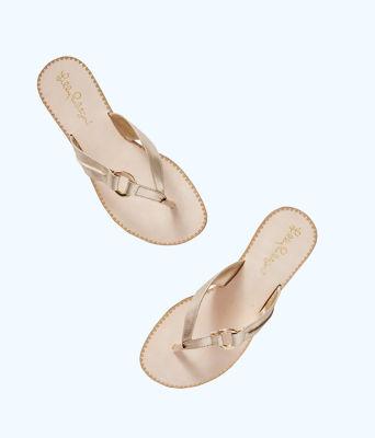 Marina Sandal, Gold Metallic, large 2