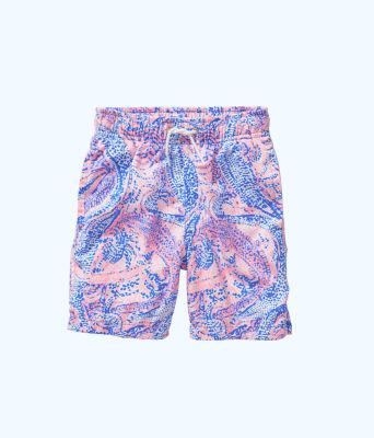 Boys Junior Capri Swim Trunks, Coastal Blue Maybe Gator, large 0