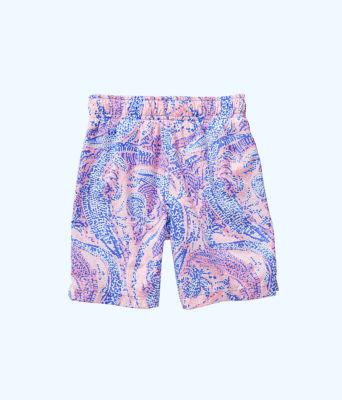 Boys Junior Capri Swim Trunks, Coastal Blue Maybe Gator, large