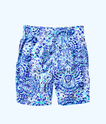 Boys Junior Capri Swim Trunks, Resort White Call My Shell Phone, large 1