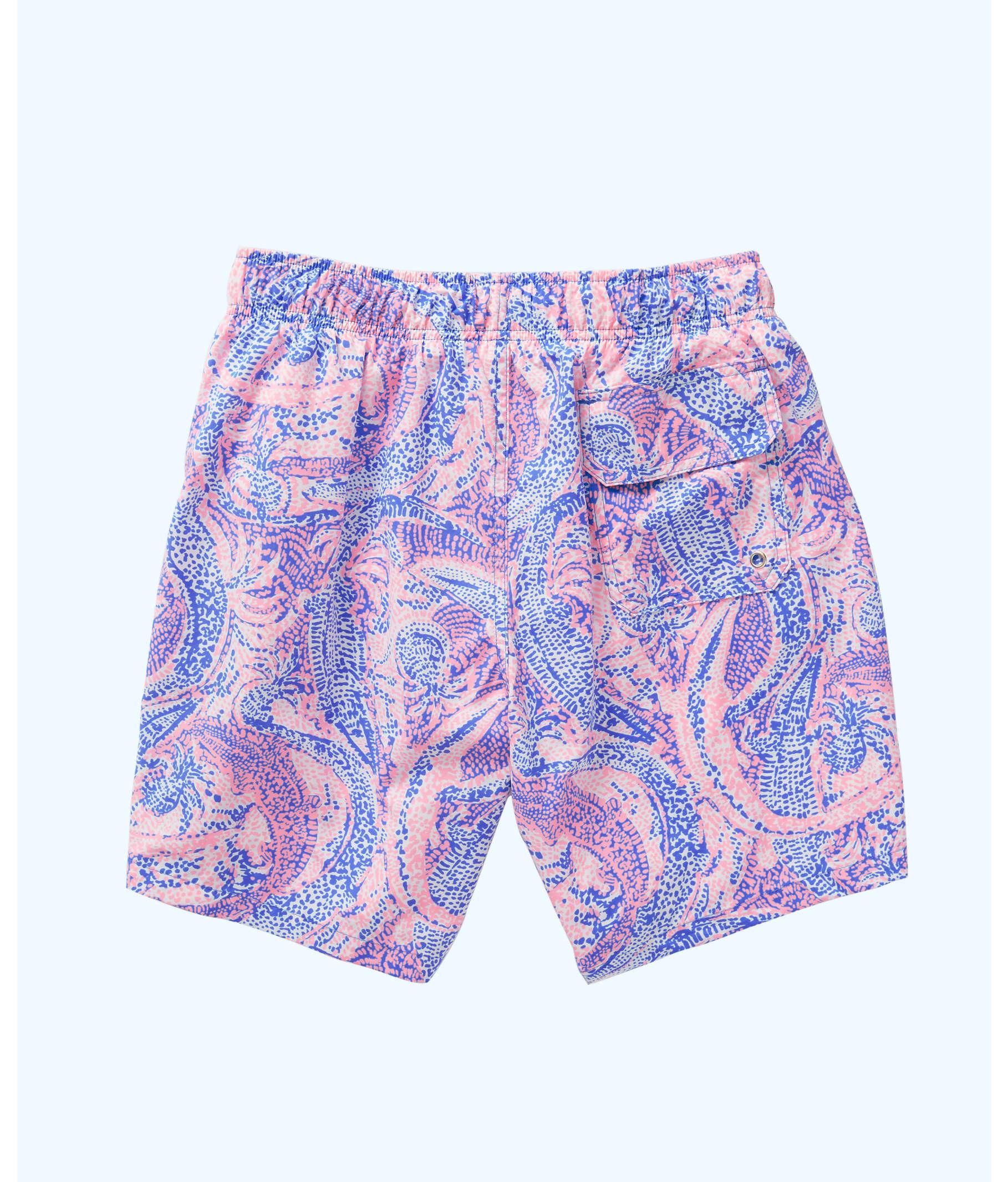 5ecfeb5709 Mens Capri Swim Trunks, Coastal Blue Maybe Gator, large ...
