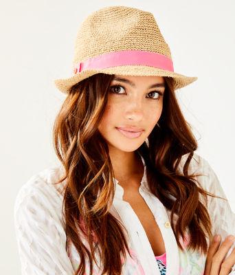 Poolside Raffia Hat, Natural, large