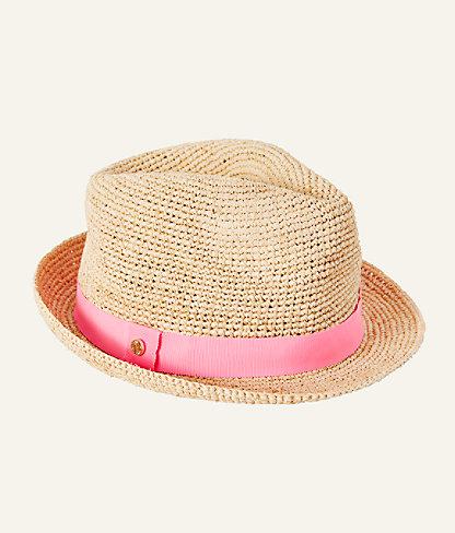 Poolside Raffia Hat, Natural, large 1