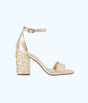 Embellished Amber Lynn Sandal, Gold Metallic, large