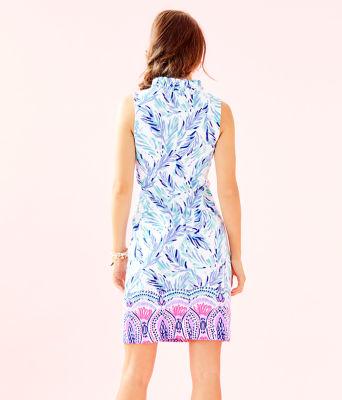 Tisbury Shift Dress, Resort White Flock Together Engineered Knit Dress, large 1