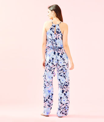 Dusk Jumpsuit, Bright Navy Amore Please, large 1