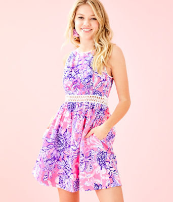 Alivia Dress, Pink Tropics Sun Drenched, large