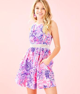 Alivia Dress, Pink Tropics Sun Drenched, large 0