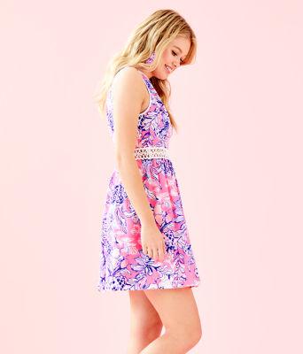 Alivia Dress, Pink Tropics Sun Drenched, large 2