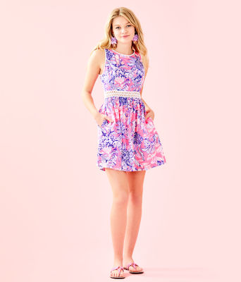 Alivia Dress, Pink Tropics Sun Drenched, large 3