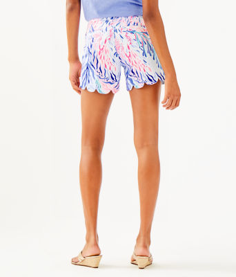 """5"""" Buttercup Stretch Short, Crew Blue Tint Kaleidoscope Coral, large"""