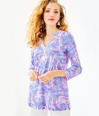 Kaia Knit Tunic, Coastal Blue Maybe Gator, large