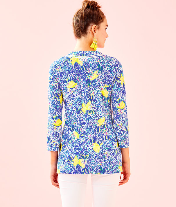 Kaia Knit Tunic, Resort White Zest For Life, large