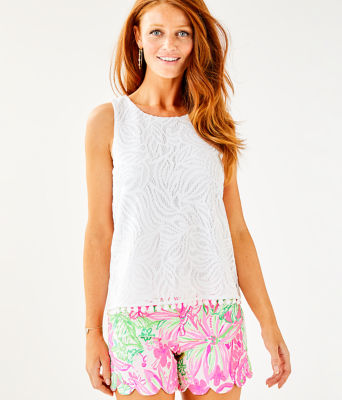 Maybelle Top, Resort White Sea Swirling Lace, large 0