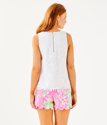 Maybelle Top, Resort White Sea Swirling Lace, large