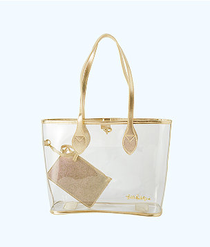 Clear Tote Bag, Clear, large