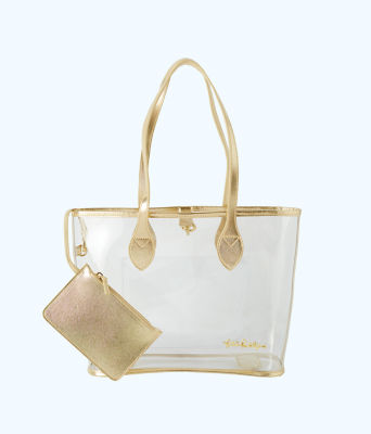 Clear Tote Bag, Clear, large 1