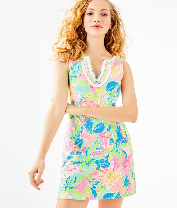 Harper Shift Dress, Multi Sunshine State Of Mind, large