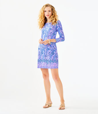UPF 50+ Sophie Dress, Purple Iris Hello Sunshine Engineered Sophie, large 3