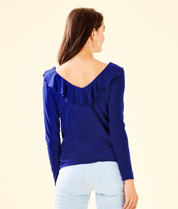 Alessa Long Sleeve Top, Royal Purple, large