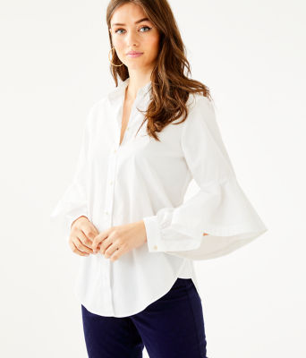 Natalia Shirt, Resort White, large 0