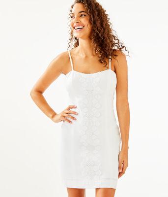 Shelli Stretch Dress, Resort White, large