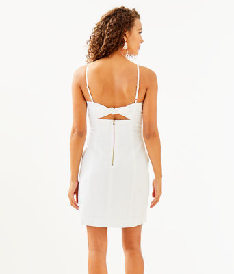 Shelli Stretch Dress, Resort White, large 1
