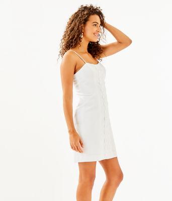 Shelli Stretch Dress, Resort White, large 2