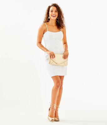 Shelli Stretch Dress, Resort White, large 3