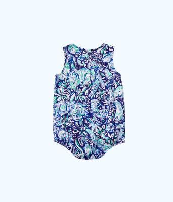 Girls May Bodysuit, Royal Purple 60 Animals, large