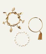 Oceana Bracelet Set, Gold Metallic, large