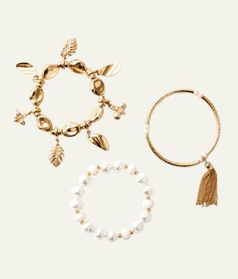 Oceana Bracelet Set, Gold Metallic, large 0