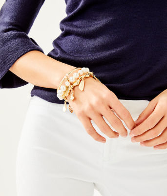 Oceana Bracelet Set, Gold Metallic, large 1