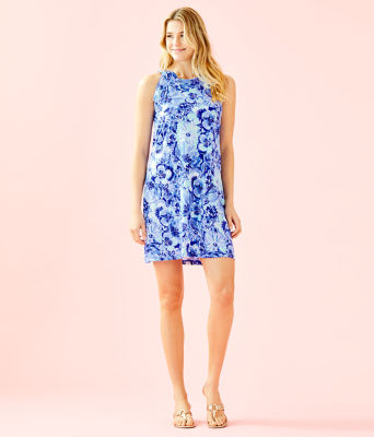 Luella Dress, Coastal Blue Catch N Keep Small, large