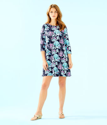 Ophelia Swing Dress, Bright Navy Pop Up Monkey Trouble, large 3