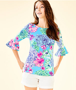 Fontaine Bell Sleeve Top, Multi Special Delivery, large