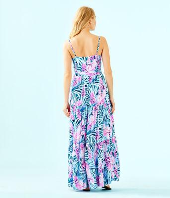 Aviana Maxi Dress, Mr Peacock Blue Tweethearts, large 1