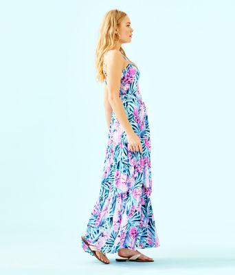 Aviana Maxi Dress, Mr Peacock Blue Tweethearts, large 2