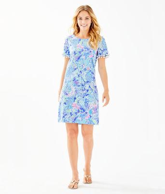 Lissie Dress, Coastal Blue Lion Around, large 3